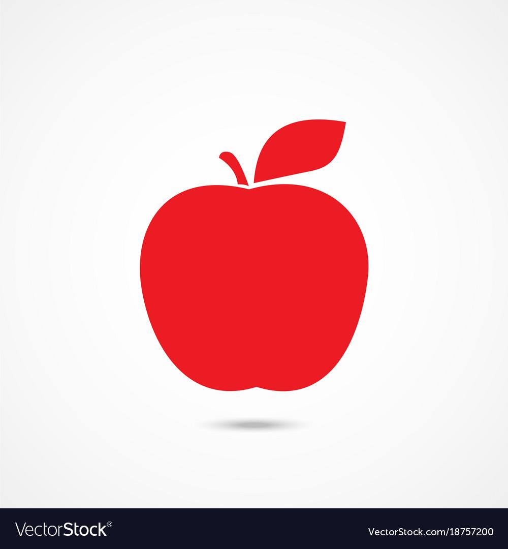 Apple icon on white