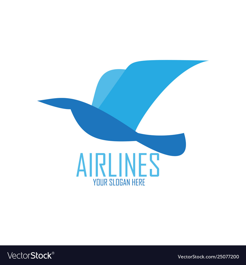 Blue bird for airlines logo