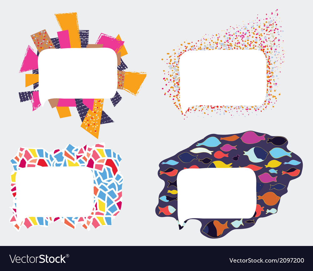 Frames and borders whimsical design Royalty Free Vector