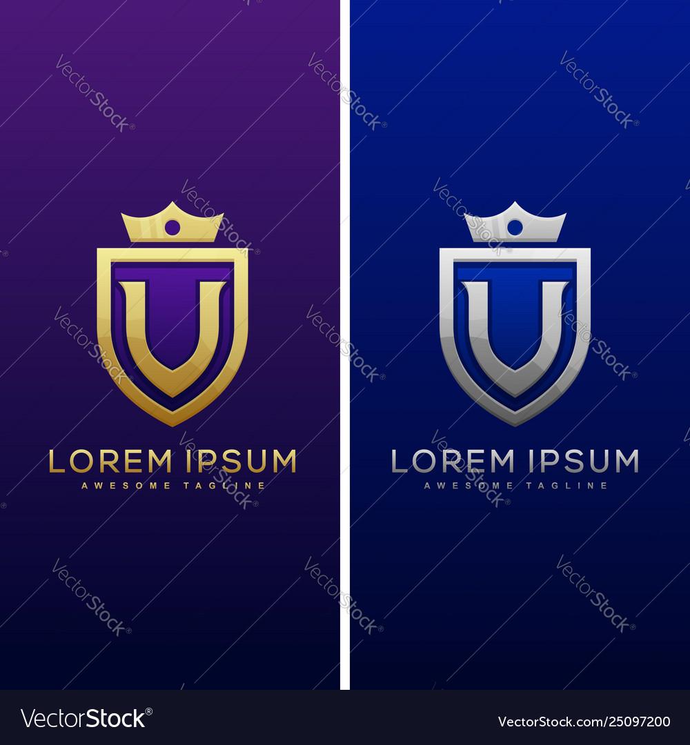Luxury letter v concept design template