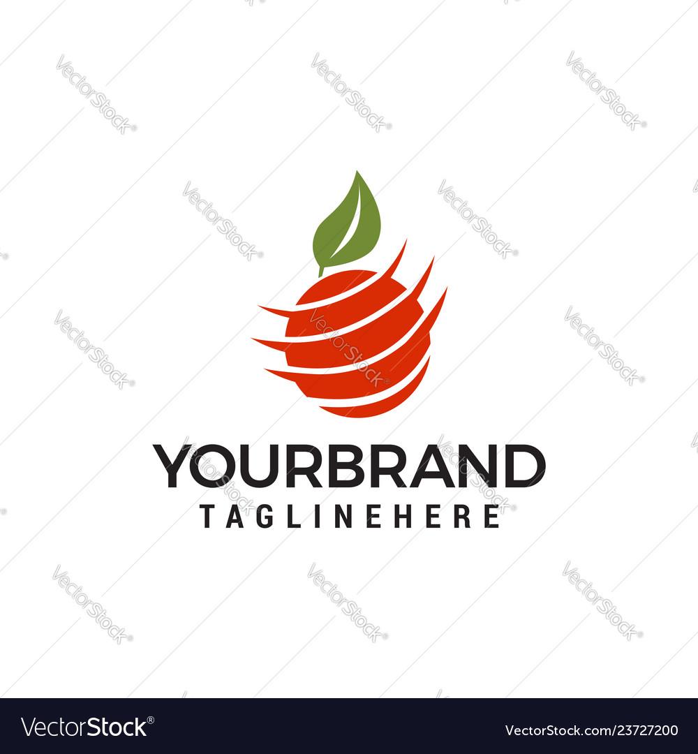 Orange logo template icon design