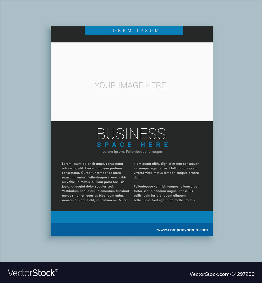 Simple Business Brochure Template Vector Image