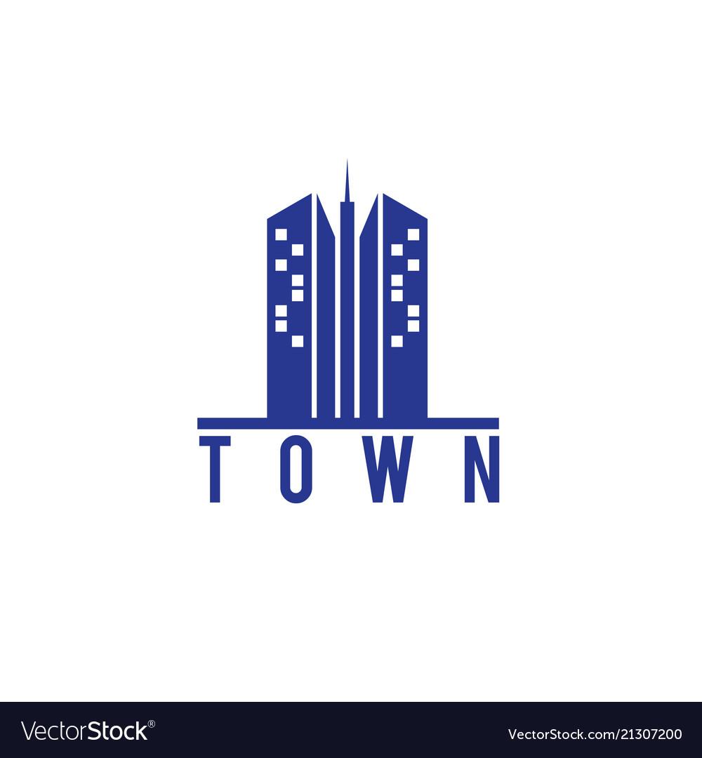 Skyscraper town building logo