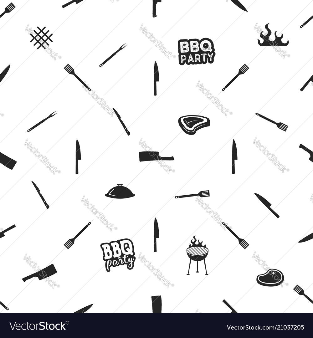 Bbq thematic seamless design barbecue pattern for