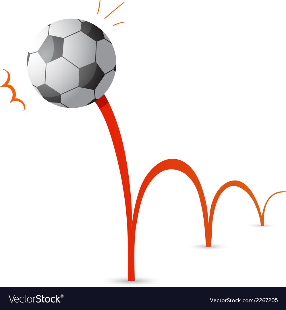 bouncing soccer ball cartoon royalty free vector image