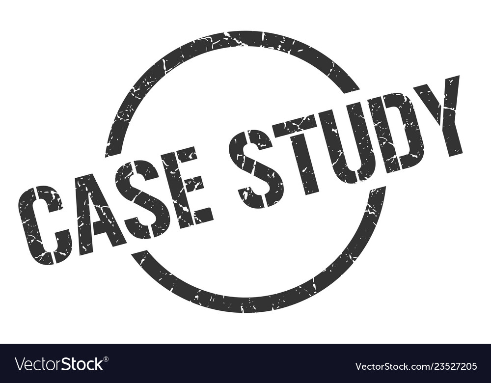 Case study stamp Vector Image