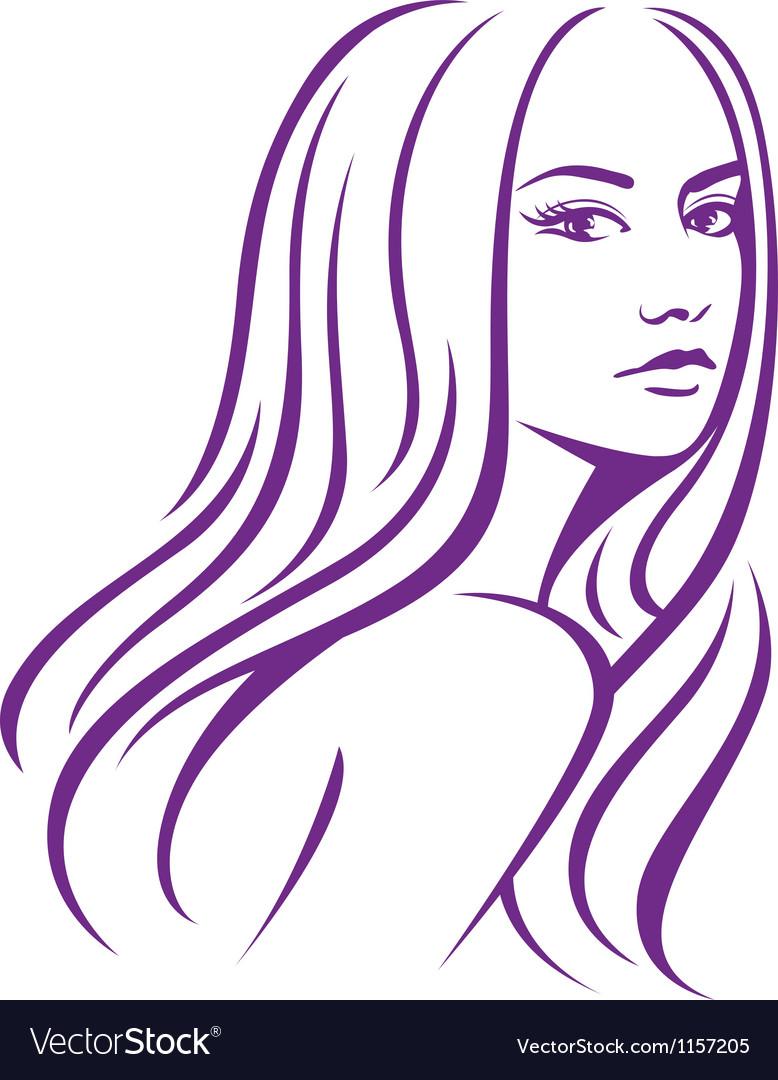 Girl fashion hair vector image