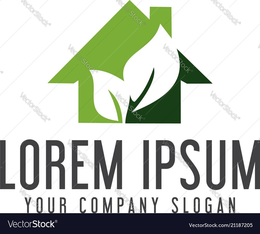Green house logo real estate logo design concept