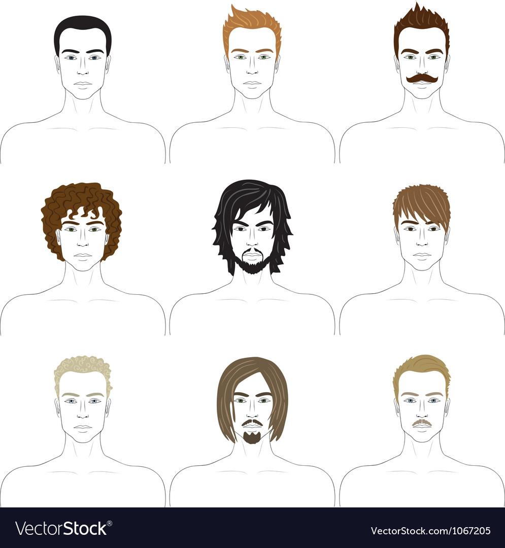 Men faces set