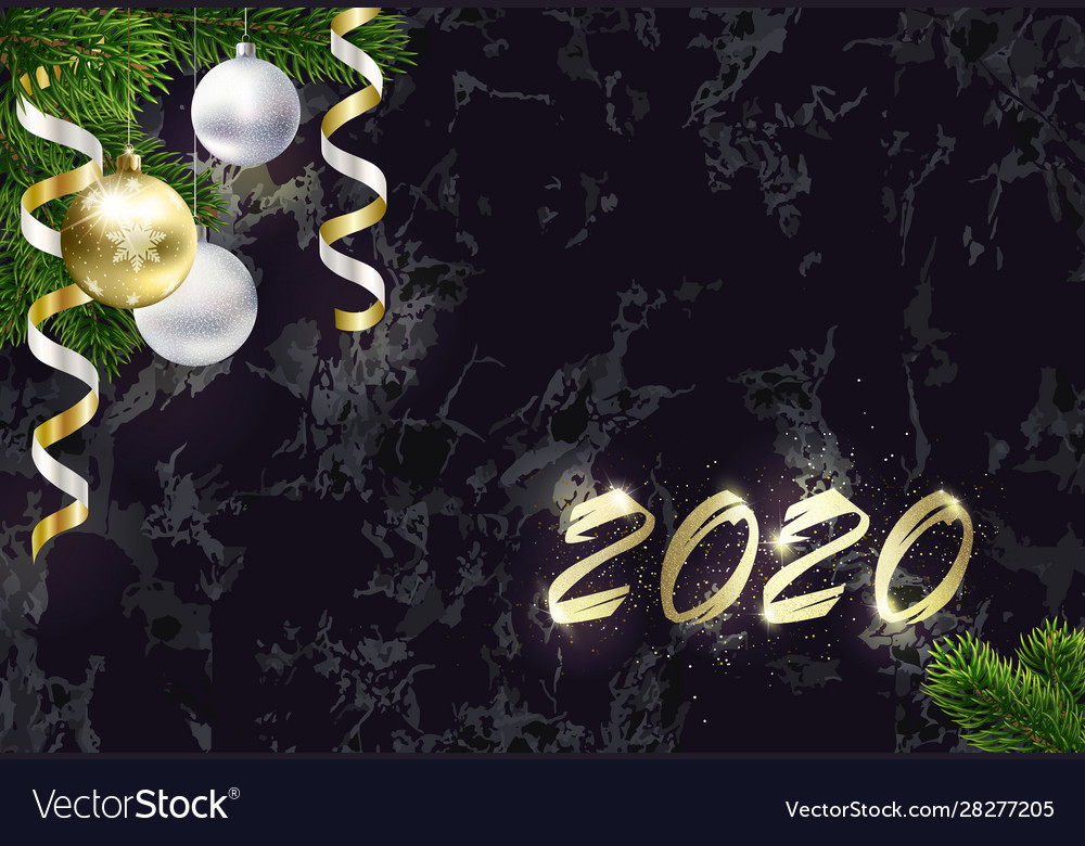 New year background with copy space golden 2020