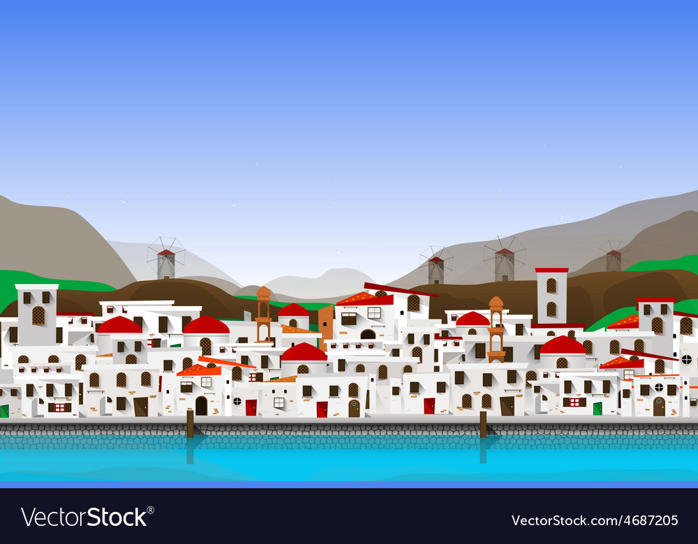 Vacation at Greece vector image