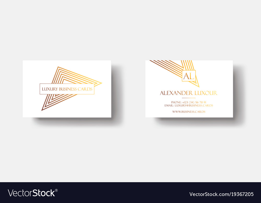 White gold luxury business cards for vip event vector image reheart Choice Image