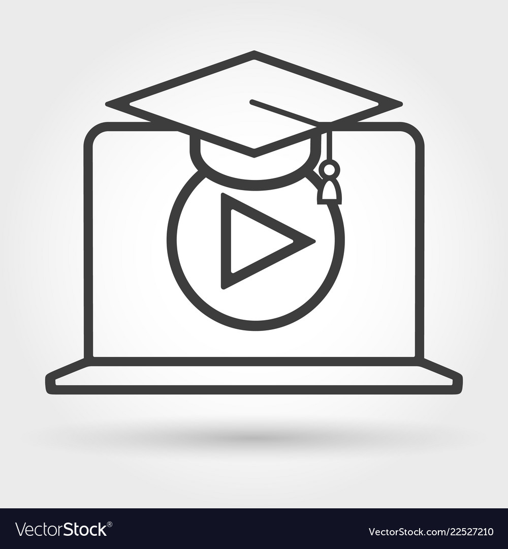 Distance e-learning icon