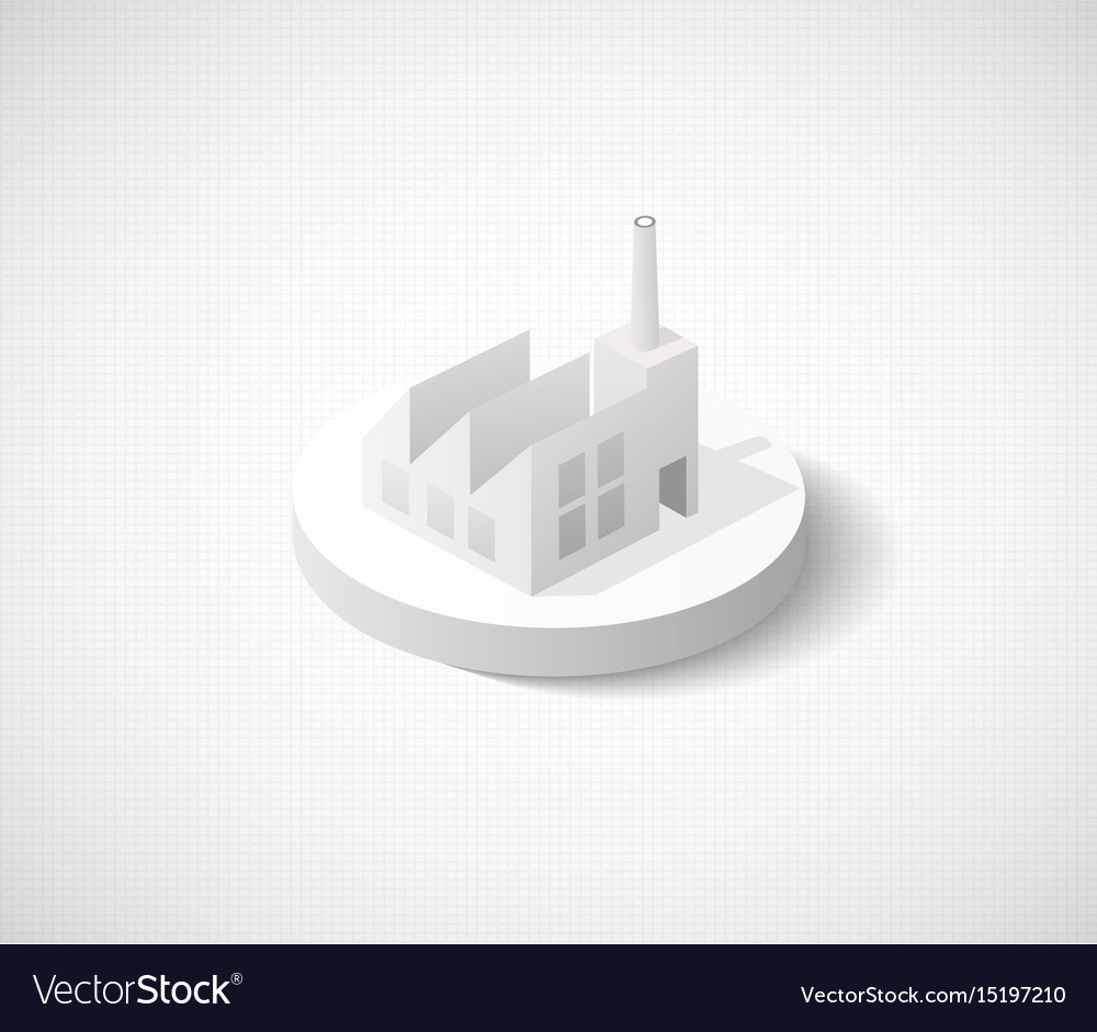 Factory hangar of isometric city icon dimensional