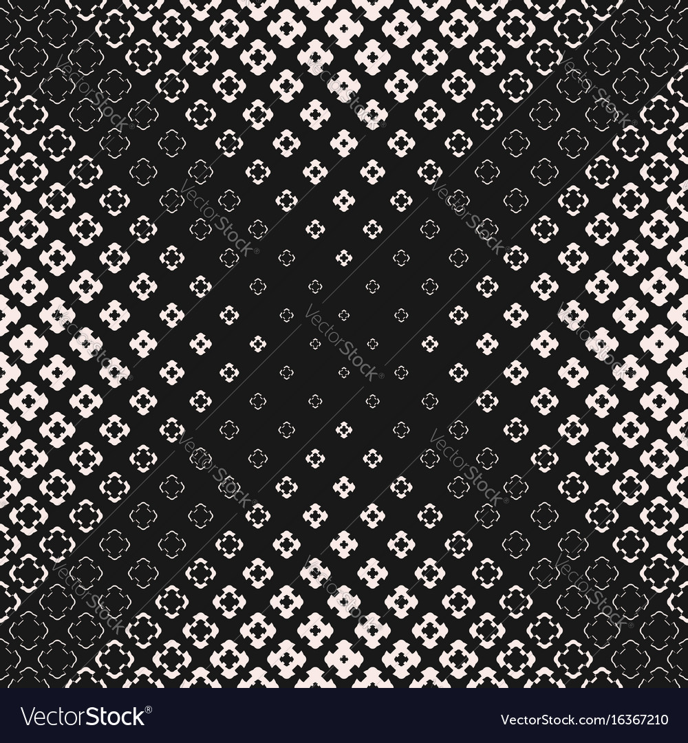 Halftone texture seamless pattern with cross