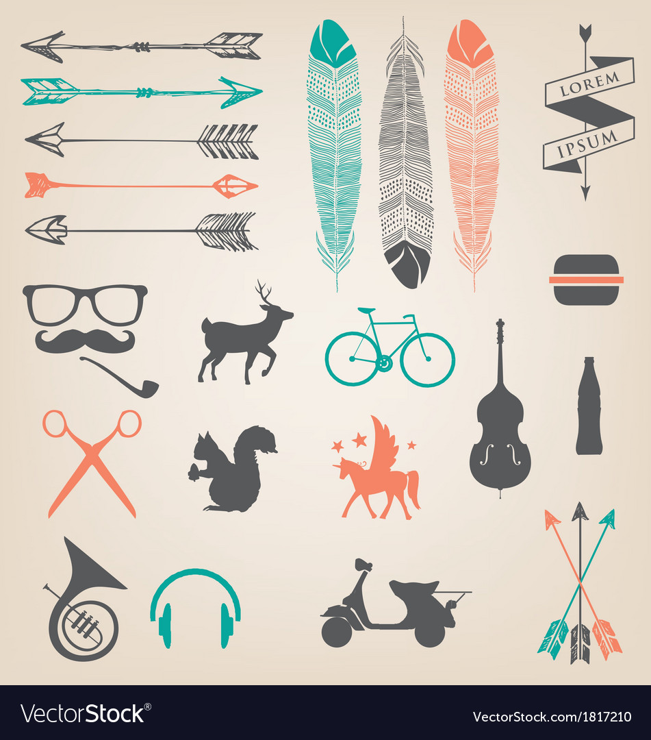 HIPSTER TREND vector image