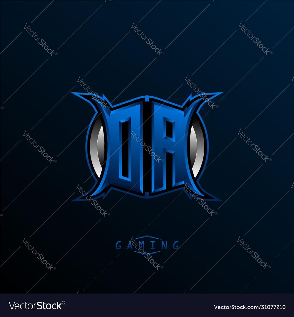 Initial Da Logo Design Initial Oa Logo Design Vector Image