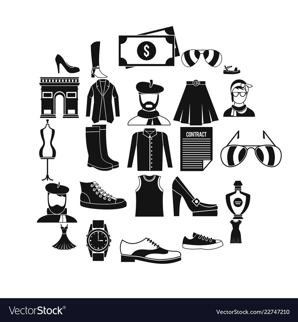 Old fashion icons set cartoon style
