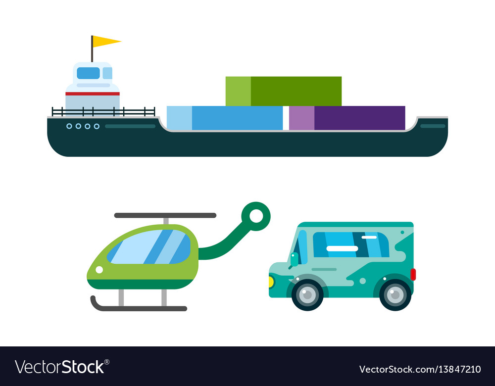 Transport delivery isolated white