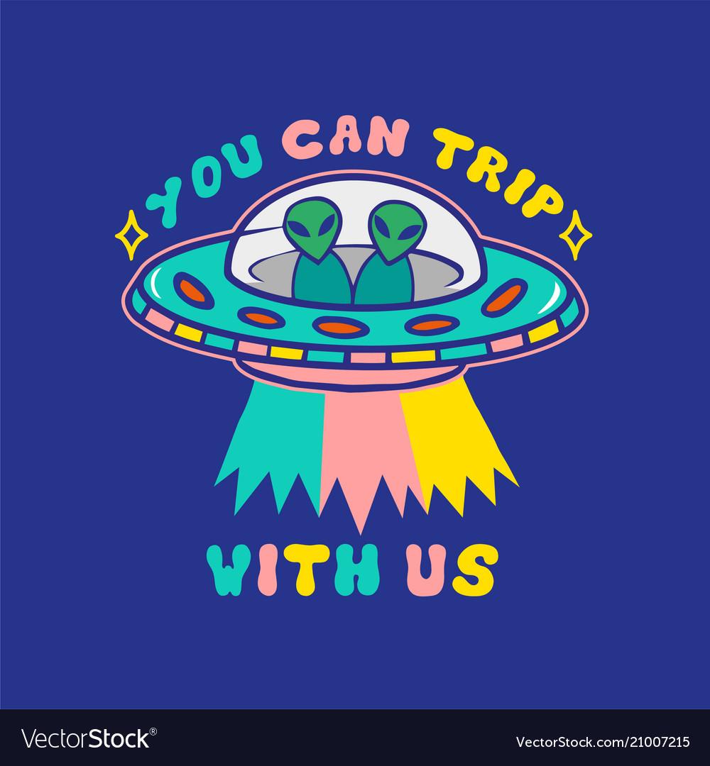 Alien ufo print