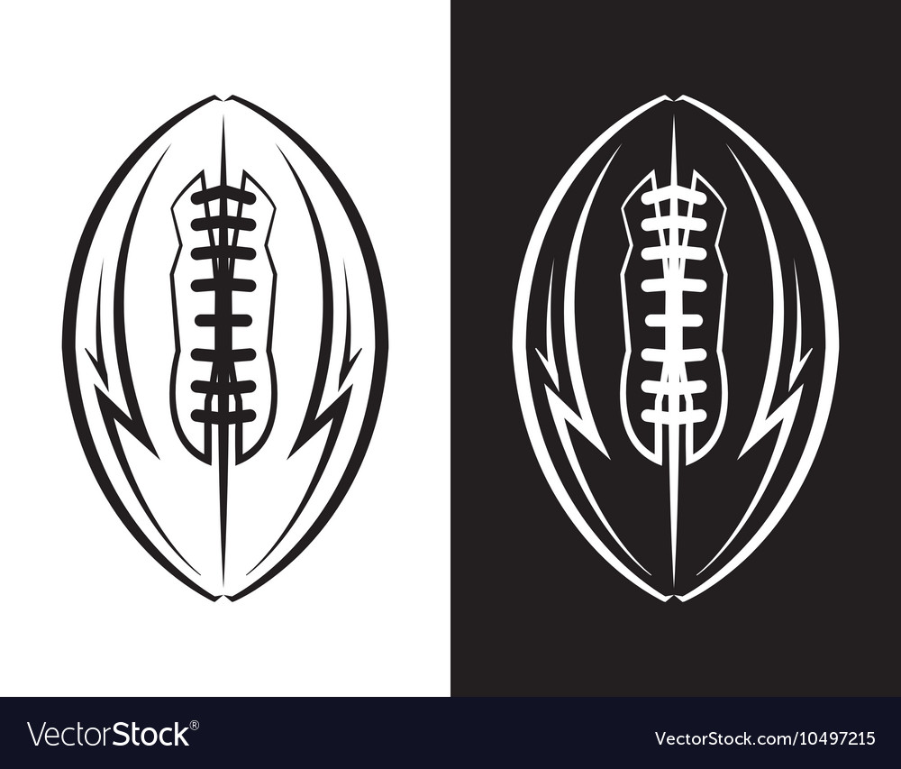 American Football Ball Emblem Icon