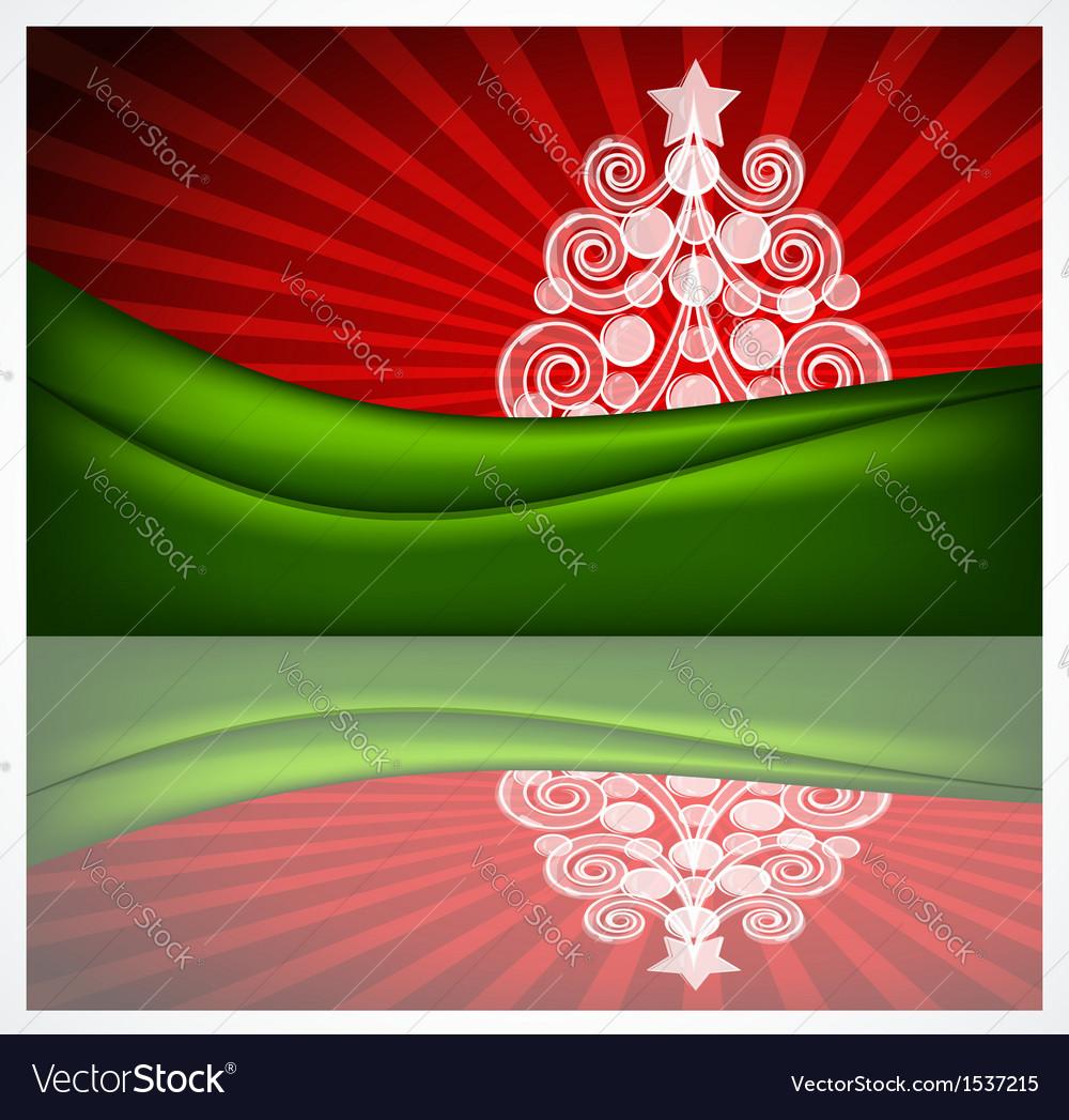 Beautiful Christmas gift card vector image