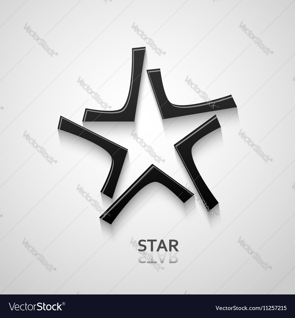 Black star logo design vector image