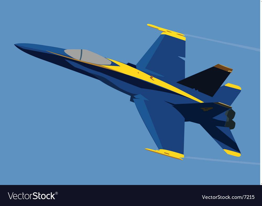 Blue jet vector image