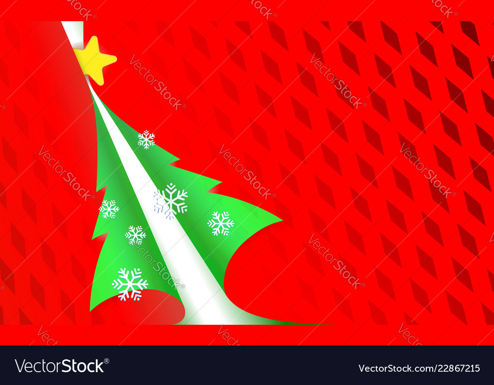 Christmas perforated paper red modern background