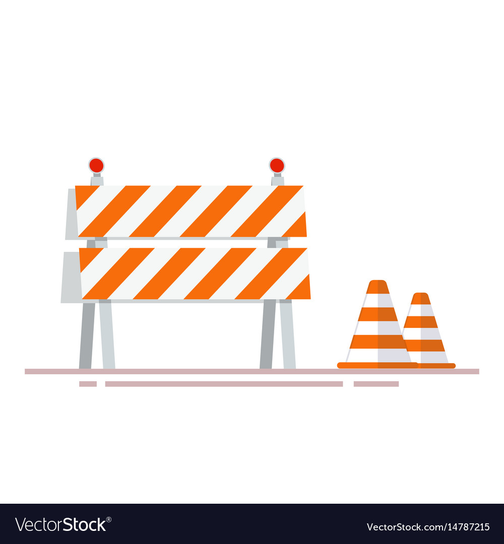 Construction fencing and cones for indicating