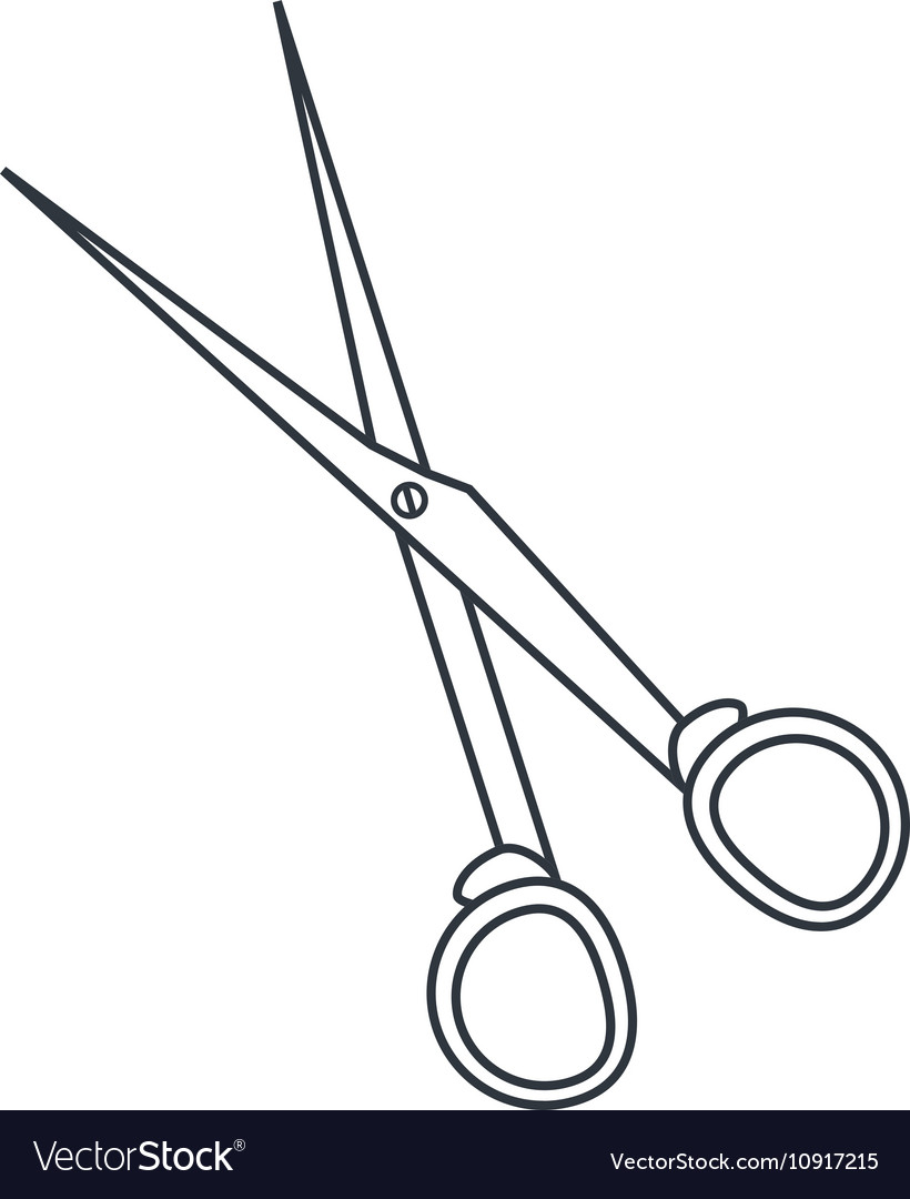 Isolated scissor tool esign vector image