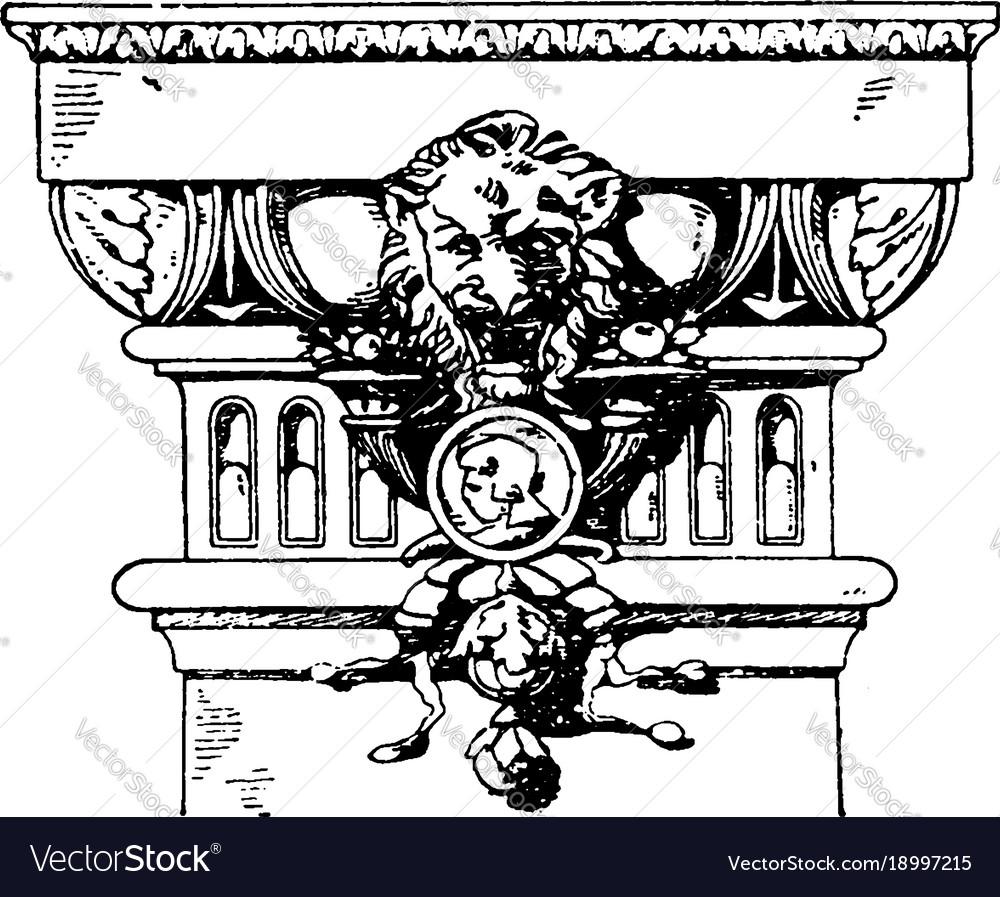 Modern doric pilaster capital pilaster vintage