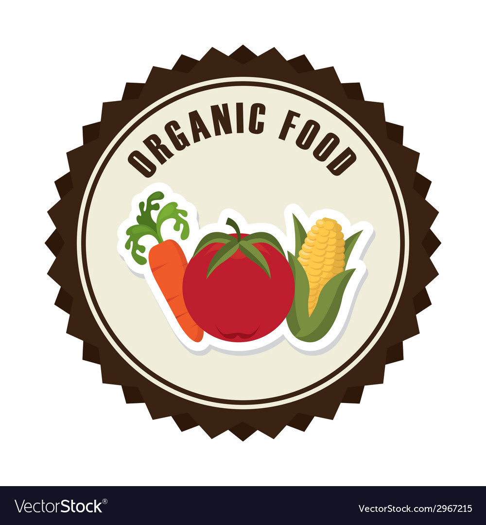 Organic food design vector image