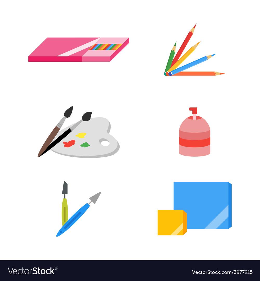 Painting icons eps 10 flat
