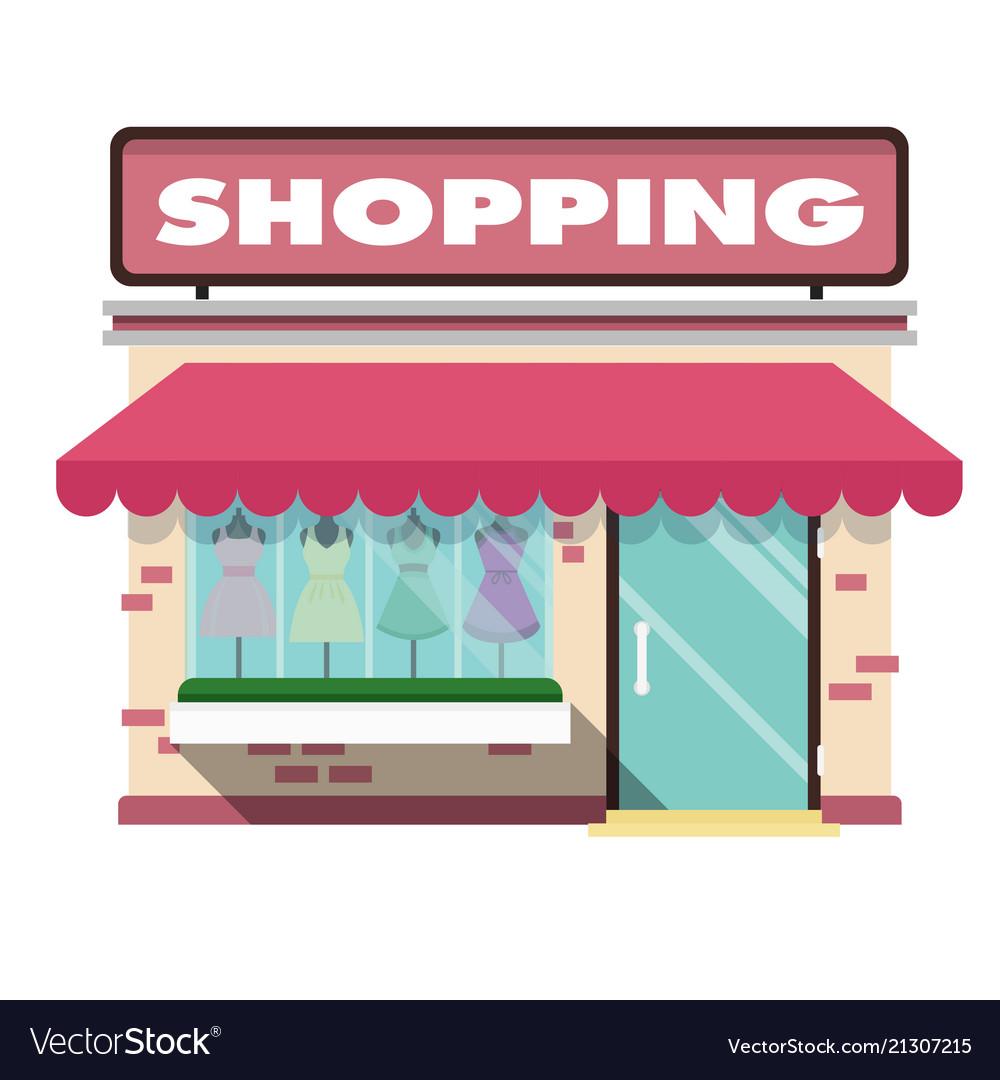 Shopping infographic pink shopping store backgroun