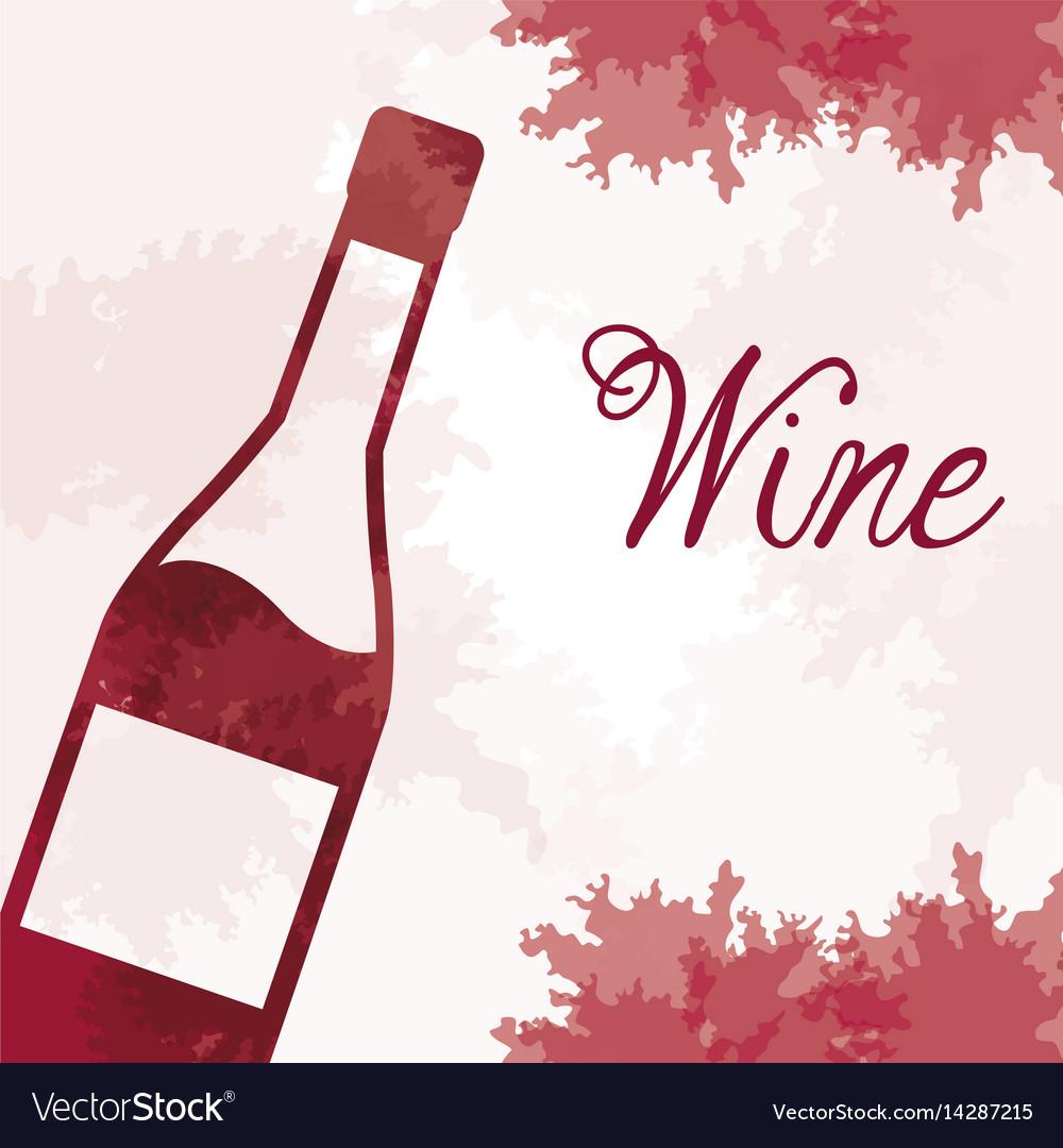 Wine bottle vintage image vector image