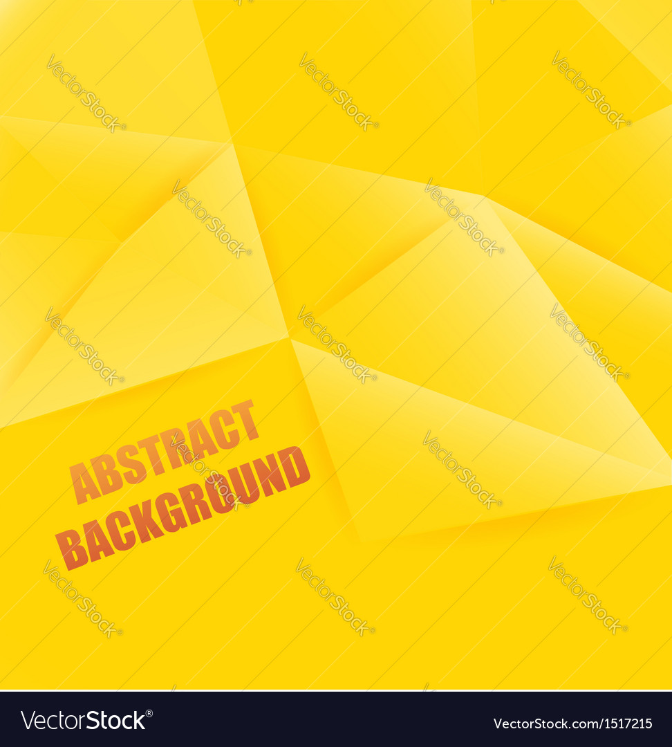 Yellow abstract background polygon