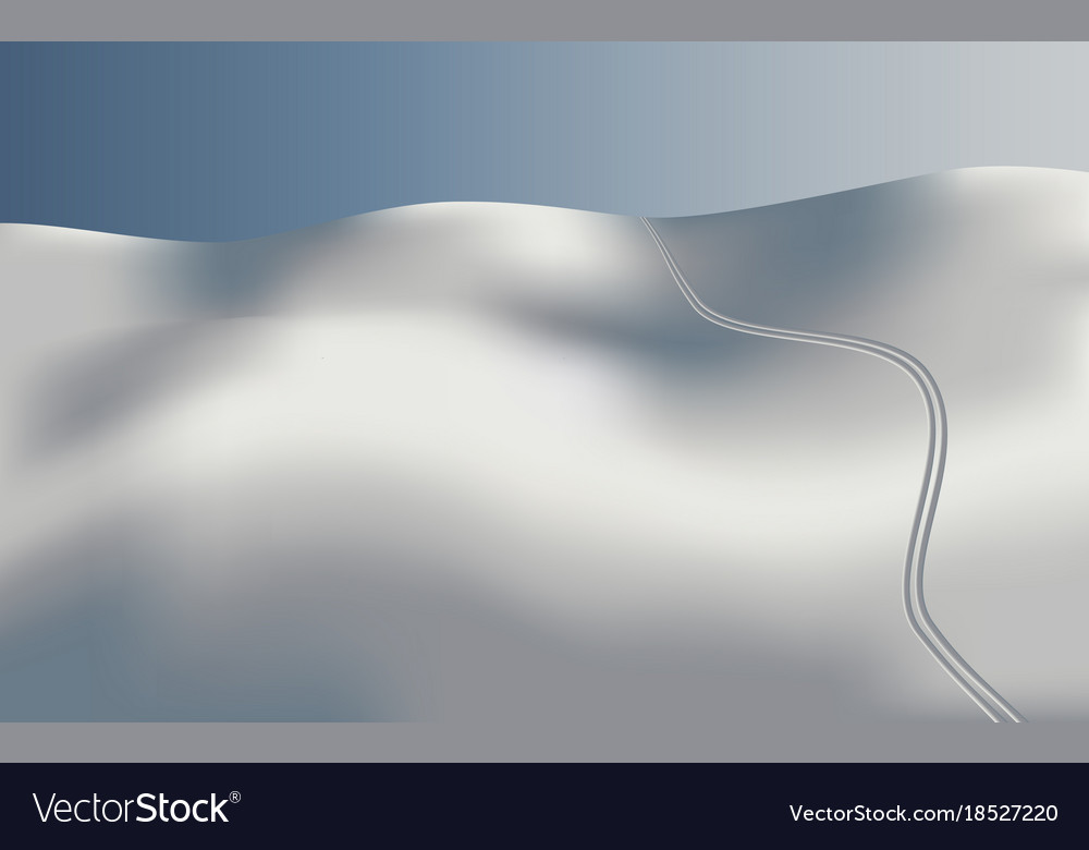 Background landscape skiing in snow
