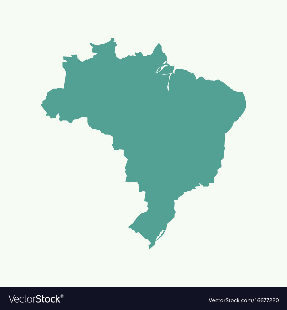 Brazil map Royalty Free Vector Image - VectorStock