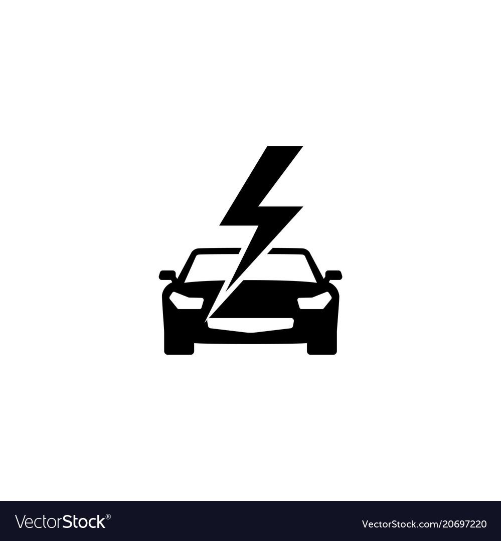 Fast car flat icon