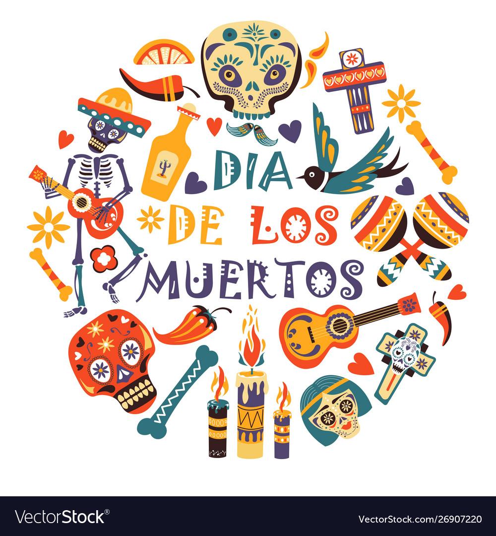 Mexican holiday or fiesta dia de los moertos day