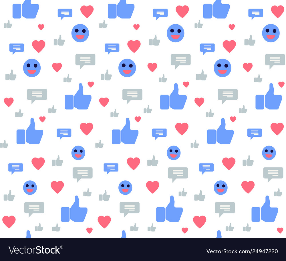 Seamless pattern with social media icons on white