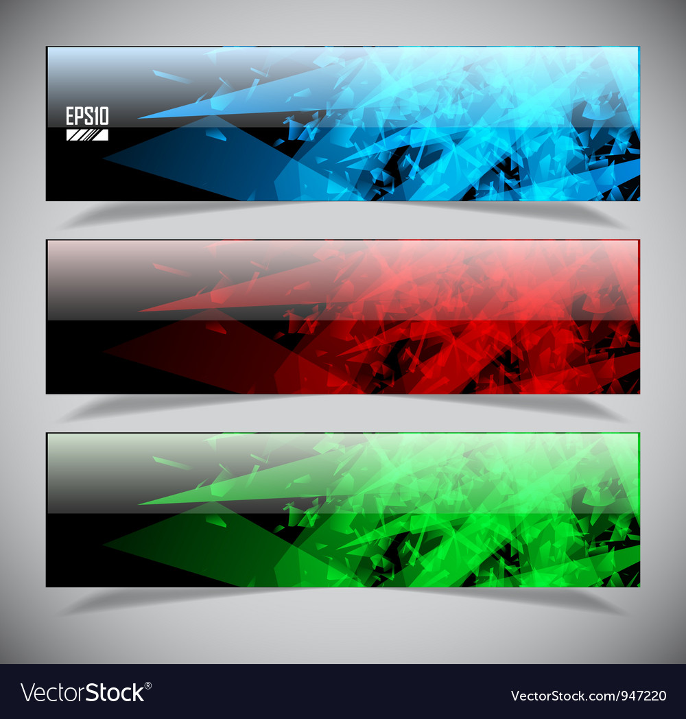 Smooth colorful abstract techno banners vector image
