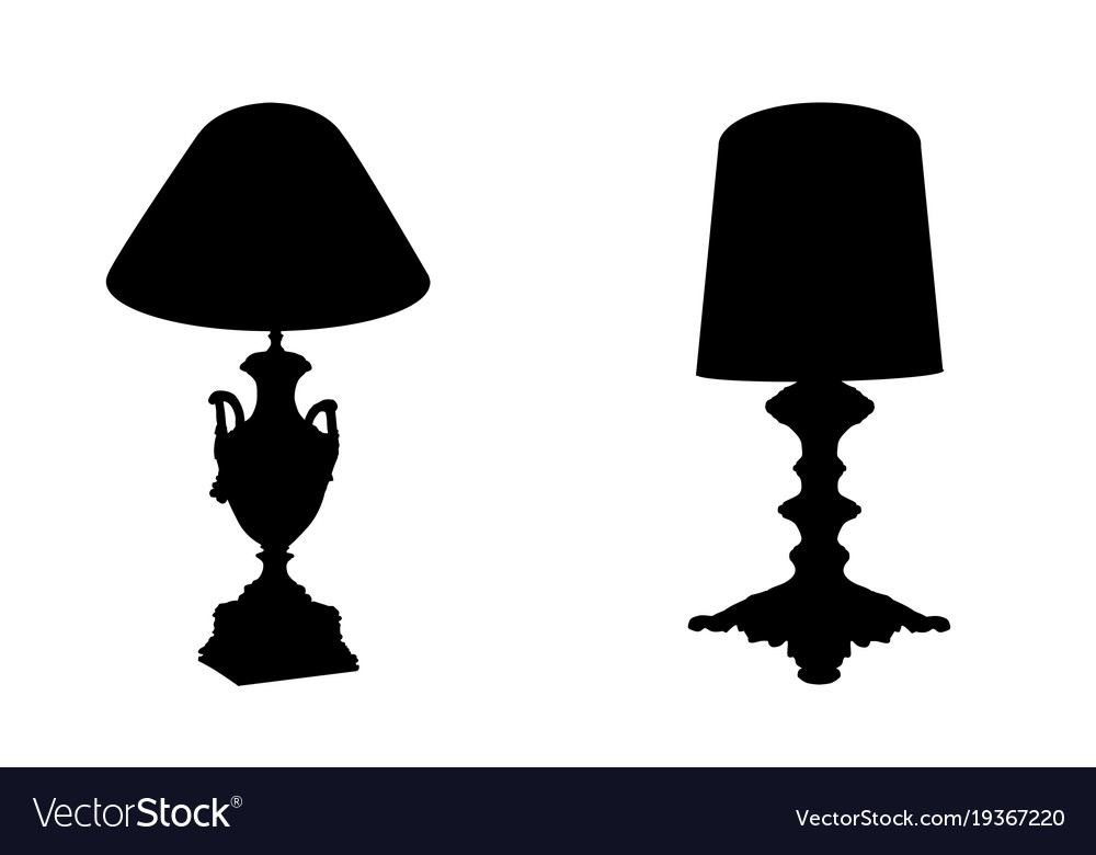 Table lamps on white background