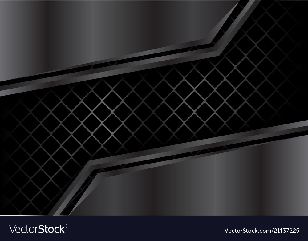 Abstract dark metal plate on square mesh vector image