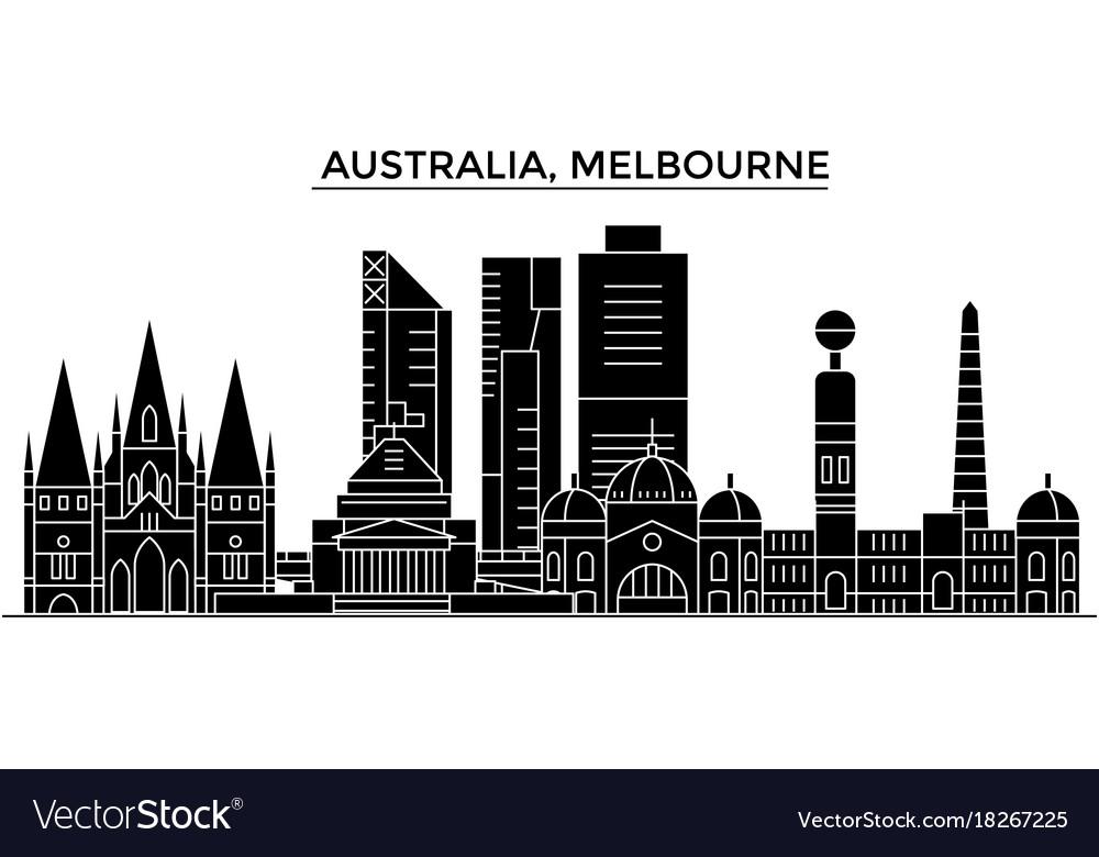 Australia melbourne architecture city vector image