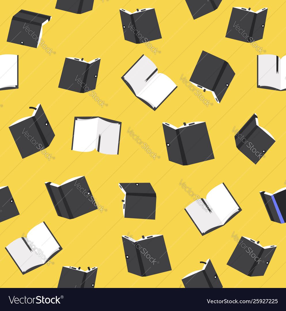 Black books seamless pattern