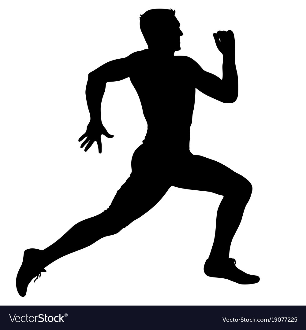 Runners silhouette clipart