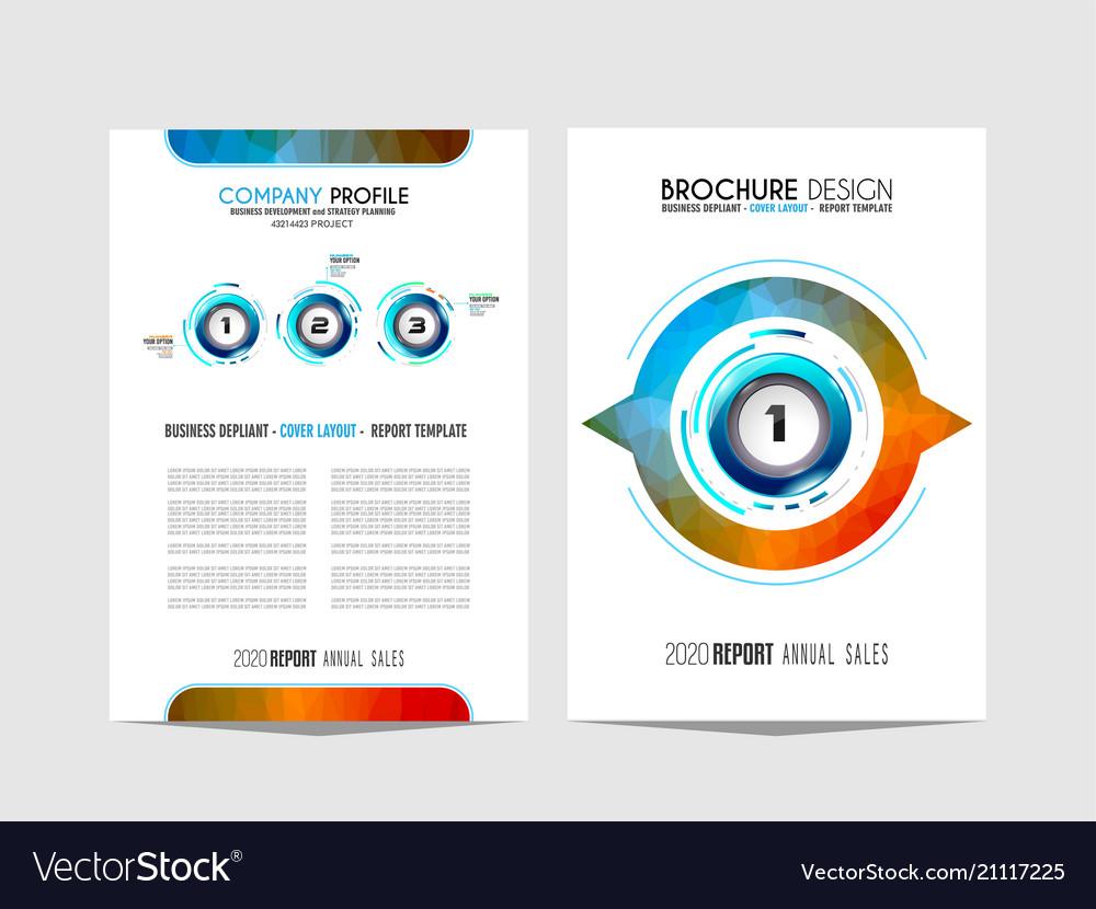 Brochure template flyer design or depliant cover