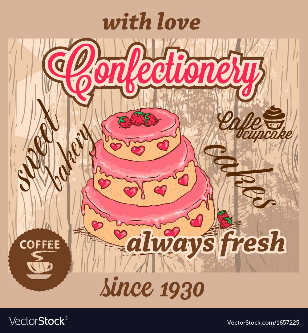 Confectionery dessert menu vector image